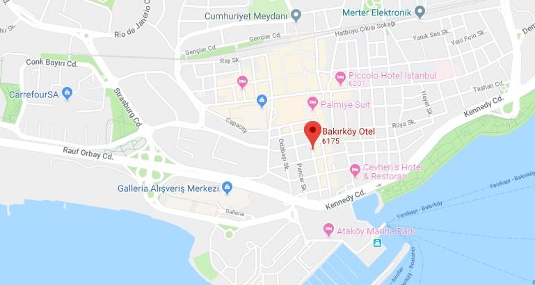 Bakırköy Otel nerededir